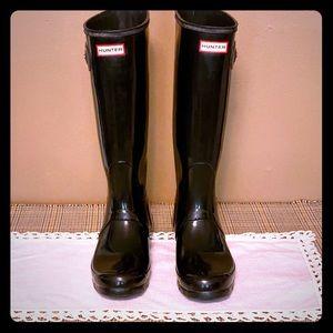 Hunter Boots- tall size 10F